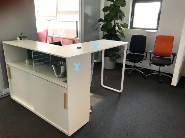 Rohde&Grahl-Play&Work Schrank in Verbindung mit Stehtisch